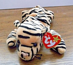 1995 Stripes Tiger Ty Plush Beanie Baby Mint with Tags Retired - $6.92