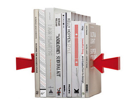 Red Arrow Bookends New Design two magnetic Arrows floating Book End Support - $33.50