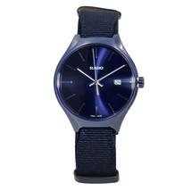 Rado True Blue Nato Strap Ceramic Quartz Blue Dial Men's Watch R27235206 - $499.00