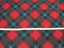 NEW Rare Daisy Kingdom Tartan Plaid Quilting Fabric 100%Cotton Sold By Half Yard - $6.98