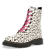 Betsey Johnson Women Combat Boots Elite Size US 7.5M Black White Leopard - $84.94