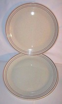 Royal Doulton Lambeth Stoneware Nutmeg 2 Dinner Plates Pair 10-3/8 Inch ... - $42.52