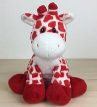 "2007 Ty Pluffies Kisser 7"" Red White Giraffe Plush - $17.81"