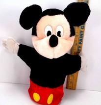 "DISNEY Mickey Mouse Hand Puppet Plush Vintage Disnet Store Land 10"" Plas... - $12.86"