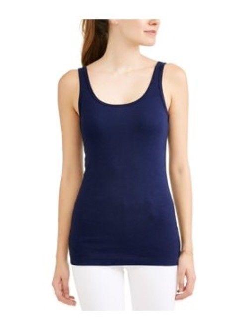 Time And Tru Women's Scoop Neck Tank Shirt XXXL (22) Blue Sapphire