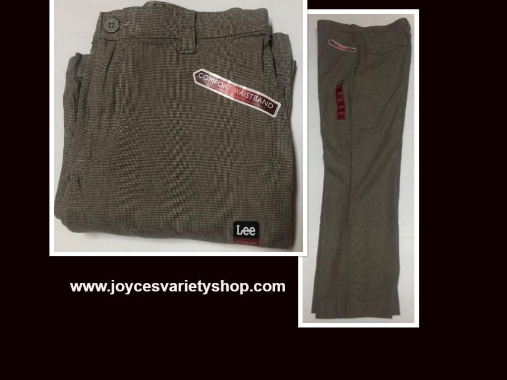 Lee Comfort Fit Casual Pants Women's Sz 14M Gray Small Plaid
