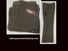 Lee Comfort Fit Casual Pants Women's Sz 14M Gray Small Plaid image 1