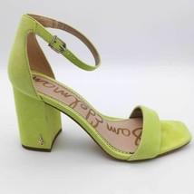 Sam Edelman Womens Daniella Ankle Strap Sandals Yellow Leather Block Heels 8 M - $18.80