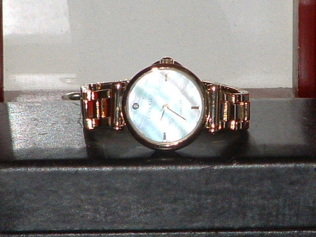 Primary image for Pre-Owned Women's Anne Klein Mother of Pearl Diamond AK/1918 Quartz Watch
