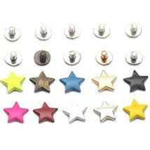 "Bluemoona 25 sets - Alloy Stars Shape 12mm 1/2"" Rivet Stud Button Screw ... - $7.85"