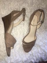 Nine West Revive Ankle Strap Wedge Heel Sandal Shoes sz 7.5 - €51,88 EUR