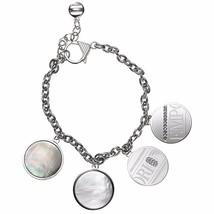 Emporio Armani EGS1337 Stainless Steel Multi Charm Logo Bracelet BNWT $175 - $99.75