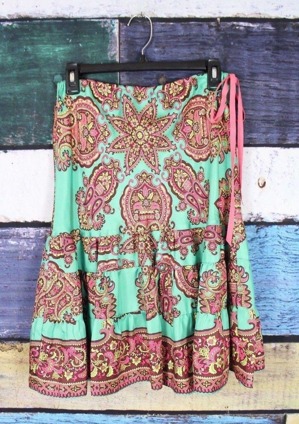 b6614c69f5 TIBI 4 Anthropologie Green Boho Floral Silk and 50 similar items