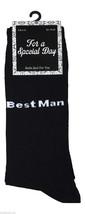 1 Pair Mens Black Wedding Socks Size 6-11 Uk, 39-45 Eur - Bestman - $3.94