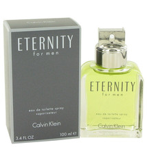 ETERNITY by Calvin Klein Eau De Toilette Spray 3.4 oz (Men) - $38.39