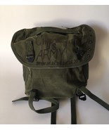 Vintage Field Pack Canvas Bag US Army Military Olive Green Backpack - $46.37