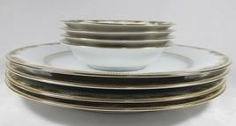 Noritake Warrington - 4 Dinner plates and 4 Dessert Bowls. Perfect Condition - $65.97