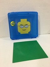 LEGO Blue Project Case Storage Bin Container with Base Plate! - $14.84