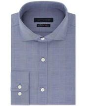 Tommy Hilfiger Fitted Flex Stretch Moisture Wicking Shirt Purple 15.5 34... - $27.54