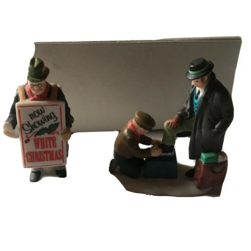 Dept 56 Heritage Village Collection All Around Town Porcelain Figures Set Of 2 - $26.72