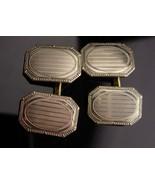 Antique Victorian Cufflinks - 14 & 10kt white Gold - button type - Fine ... - $265.00