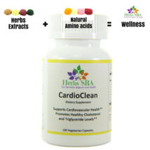 CardioClean 120 capsules, cardiovascular Supplement, Low cholesterol naturally. - $18.75