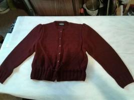 Vintage Lands End Red Cardigan Sweater Ladies Size Medium (CB52) - $28.05