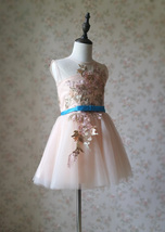 Blush Pink A-Line/Princess Knee-length Flower Girl Dress - Lace Sleeveless Scoop image 4