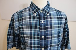 Woolrich Men's Short Sleeve Cotton Button Front Shirt size L New - $24.74