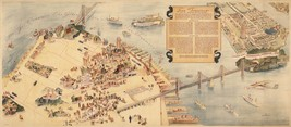 Pictorial Map of San Francisco City of Thousand and One Delights Wall Ar... - $12.38