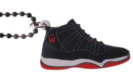Good Wood NYC Retro Bred 11's Sneaker Necklace Black/White/Red Playoff XI Kicks image 1