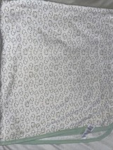 Carters Precious Firsts Elephants Baby Lovey Blanket White Mint Green Co... - $26.72