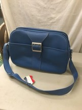 Vintage Blue Samsonite Royal Traveller Montbello Overnight Carry-On Luggage - $39.99