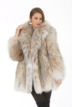Madison Ave Malls Canadian Lynx Fur Jacket Stroller Shawl Collar Softly ... - $5,295.00