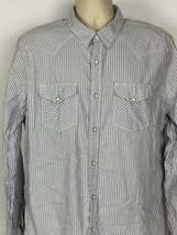 American Eagle Mens XL Vintage Fit Long Sleeve Western Pearl Snap Shirt ... - $281,79 MXN