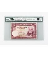 1951 (ND 1956 ) ESPAÑA 50 PESETAS cu-64 PMG BANCO Elección que no ha CIR... - $159.34
