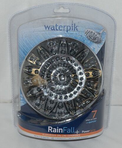 Waterpik Brand ASR733 Rain Fall Plus Series Seven Spray Setting Shower Head