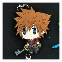 Kingdom Hearts 3 Sora Rubber Strap Charm Keychain Key Ring Final Fantasy... - $4.93