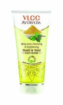2 x VLCC Ayurveda Deep Pore Cleansing Brightening Haldi Tulsi Facewash 1... - $17.07