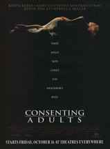1992 CONSENTING ADULTS - Vintage PRINT AD Page - Movie Premiere Advertis... - $4.47
