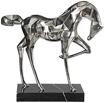 "Uttermost Phoenix 18 1/2"" W Brushed Nickel Horse Statue - $248.60"