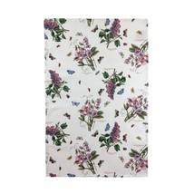4 x Fiori Floreale Farfalle Verde e Bianco 100% Cotton Strofinaccio 45cm... - $25.31