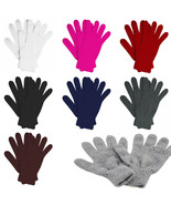 New Gloves Knit Stretchy Men Women Winter Plain Solid Casual Plain Warme... - $4.45