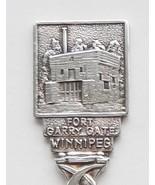 Collector Souvenir Spoon Canada Manitoba Winnipeg Fort Garry Gate Embossed - $9.99