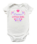 Daddys Little Girl One Piece Bodysuit - Fathers Day Shirt for Baby Girls... - $11.99+