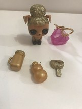 HTF LOL Surprise Doll gold with accessories - $9.85