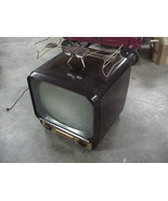 "1953 ADMIRAL 121DX12 17"" Television Brown Bakelite TV Cabinet w ART DECO... - $296.99"