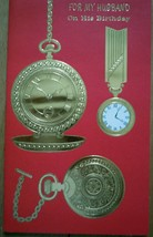 Vintage American Greetings For My Husband Birthday Watch Card 1960s  - $2.99