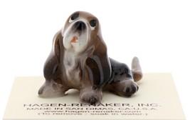 Hagen-Renaker Miniature Ceramic Dog Figurine Basset Hound Pup Sitting