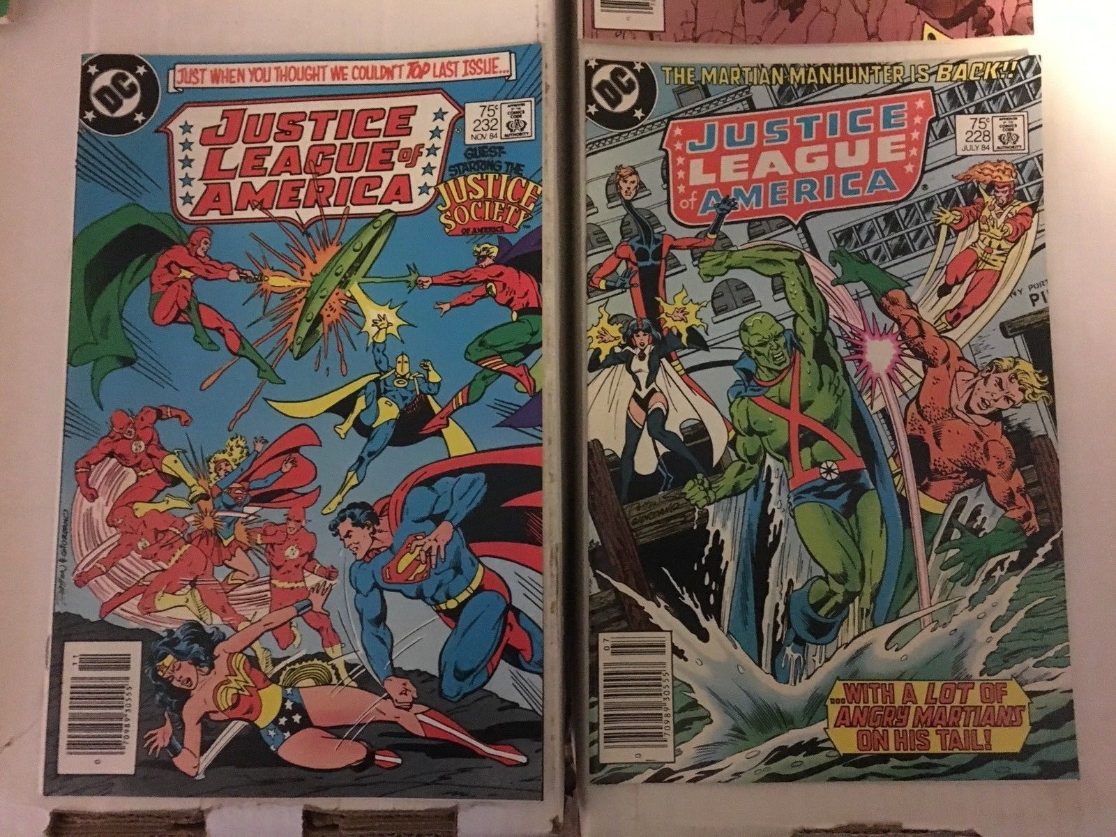 Justice League Of America 228 229 231 232 233 234 DC Book Lot Of 6 1984 FN-VF
